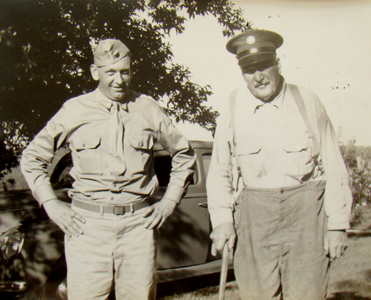 Don Jennings and his uncle, Walter Cass Jennings